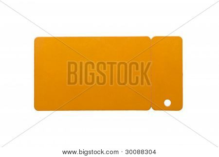 Isolated Discount Card