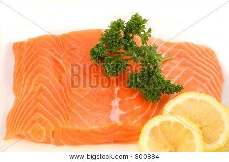Salmon Fillet Garnished