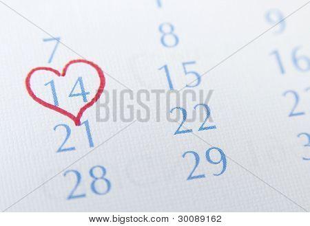heart around 14 february