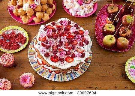 Collorful Birthday Cake