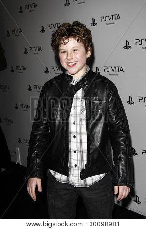 LOS ANGELES, CA - FEB 15: Nolan Gould at the Sony PlayStationAE Unveils PS VITA Portable Entertainment System at Siren Studios on February 15, 2012 in Los Angeles, California