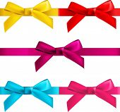 foto of ribbon bow  - gift bows with ribbons isolated on white - JPG