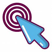 Cursor Mouse Icon. Cartoon Illustration Of Cursor Mouse Icon For Web poster