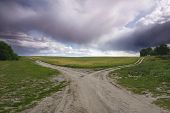 pic of steppes  - The road - JPG