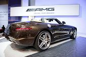 CHICAGO - FEB 12: The 2013 Mercedes SLS AMG on display at the 2012 Chicago Auto Show. February 12, 2