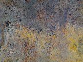 Background Textures Of Rusty Iron. Corrosion  Metal  . Old Cracks And Scratches. poster