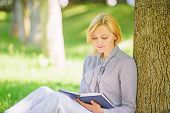 Books Every Girl Should Read. Girl Concentrated Sit Park Read Book Nature Background. Reading Inspir poster
