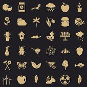 Gardening Stuff Icons Set. Simple Style Of 36 Gardening Stuff Vector Icons For Web For Any Design poster