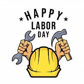 Happy Labor Day Vector On White Background, Labor Day Vector Illustration, Labour Day Icon, Labor Da poster