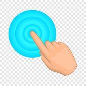 Cursor Hand Click Icon. Cartoon Illustration Of Cursor Vector Icon For Web Design poster