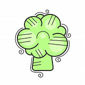 Cauliflower Icon In Flat Style. Isolated Object. Cauliflower Logo. Isolated Object. Vegetable From T poster