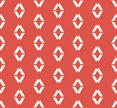 Vector Geometric Seamless Pattern. Simple Minimalist Ornament With Small Diamonds, Rhombuses, Lines. poster