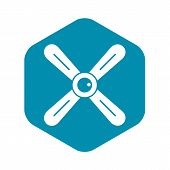 Propeller Icon. Simple Illustration Of Propeller Vector Icon For Web poster