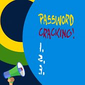Handwriting Text Writing Password Cracking. Concept Meaning Measures Used To Discover Computer Passw poster