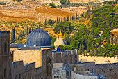image of church mary magdalene  - Russian Church of Saint Mary Magdalene on the Mount of Olives in Jerusalem - JPG