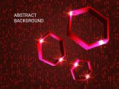 Geometric Polygons Sparkle On The Background. Creative Geometric Background. Abstract Composition. 3 poster