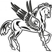 image of pegasus  - vector illustration of pegasus  - JPG