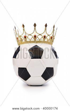 Fútbol con la corona en blanco