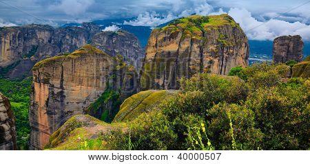 Amazing Landscape At Meteora