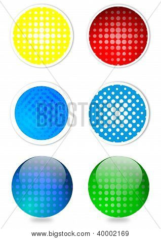 Colored circles and balls