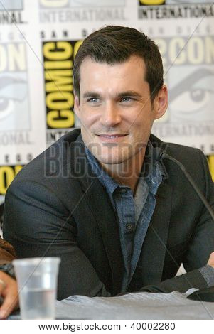 "SAN DIEGO, CA - JULY 13: Sean Maher attends a press conference for  ""Firefly"" at the 2012 Comic Con convention press room at the  Bayfront Hilton Hotel on Friday, July 13, 2012 in San Diego, CA."