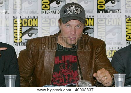 SAN DIEGO, CA - JULY 13: Adam Baldwin attends a press conference  for