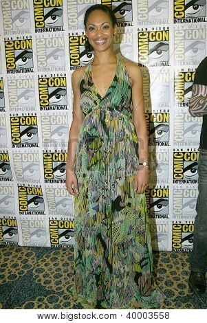 SAN DIEGO, CA - JULY 13: Cynthia Addai-Robinson arrives at the 2012 Comic Con convention press room at the Bayfront Hilton Hotel on Friday, July 13, 2012 in San Diego, CA.