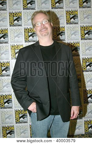 SAN DIEGO, CA - JULY 13: Rockne O'Bannon arrives at the 2012 Comic Con convention press room at the Bayfront Hilton Hotel on Friday, July 13, 2012 in San Diego, CA.