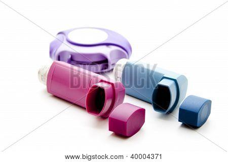 Different Inhaler to inhale medicine