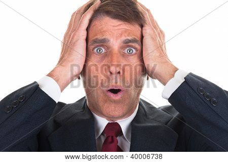 Freaked Out Businessman