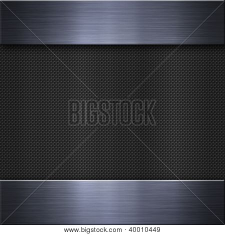 Brushed metal and carbon fibre texture or background