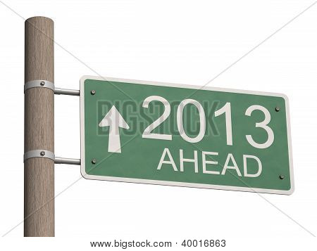 New Year 2013 Sign. 3D Illustration