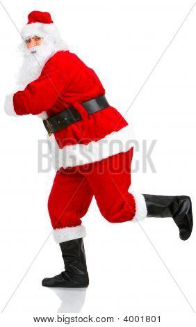 Running Christmas Santa