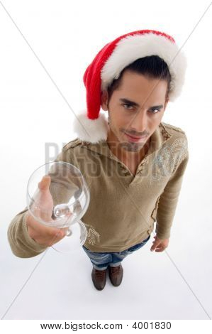 Fashion Male Showing Wine Glass