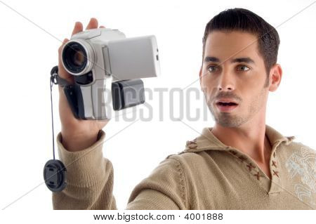 Young Man Looking In To Camera