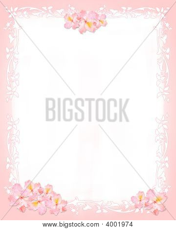 Pink And Whiter Stationery