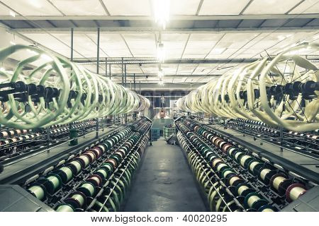 interior of textile mill