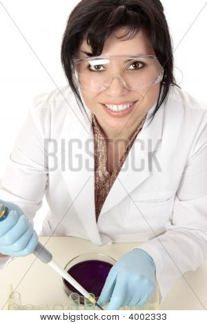Smiling Medical Researcher