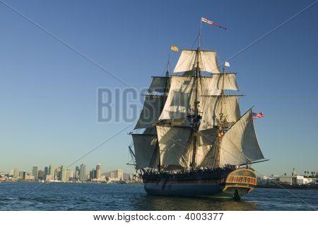 Tall Ship Under Sail