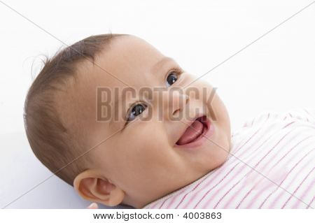 Close Up Of Smiling Cute Baby