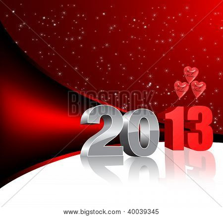 new year 2013 3d