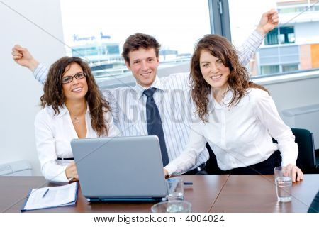 Happy Successful Business Team