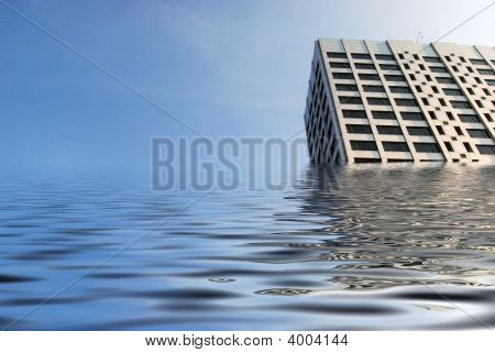 Flooded Office Block