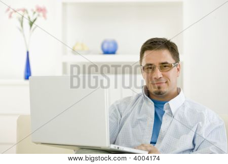 Casual Man Browsing Internet