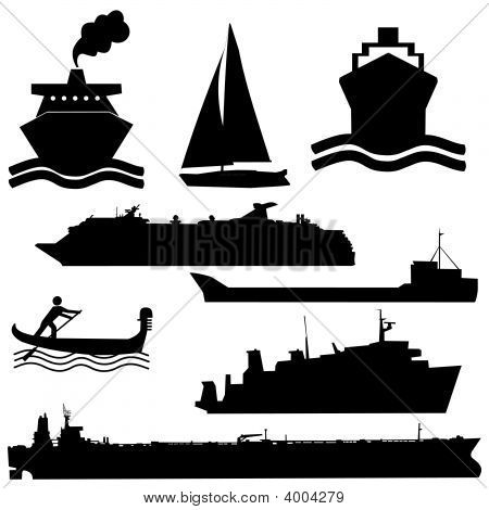 Siluetas de barco surtidos