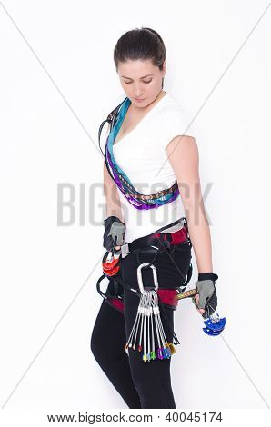 Equipped With Climbing Tools