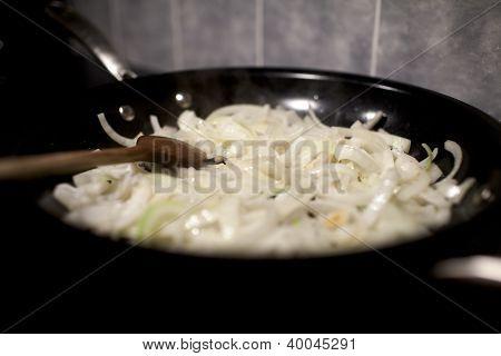 Onions In Frying Pan