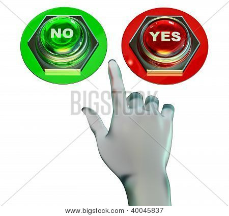 Yes and no buttons set