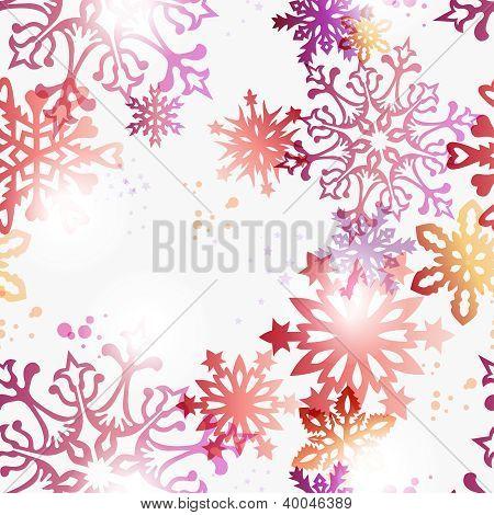 Christmas Contemporary Snowflakes Pattern