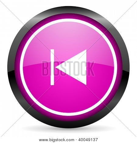 prev violet glossy icon on white background